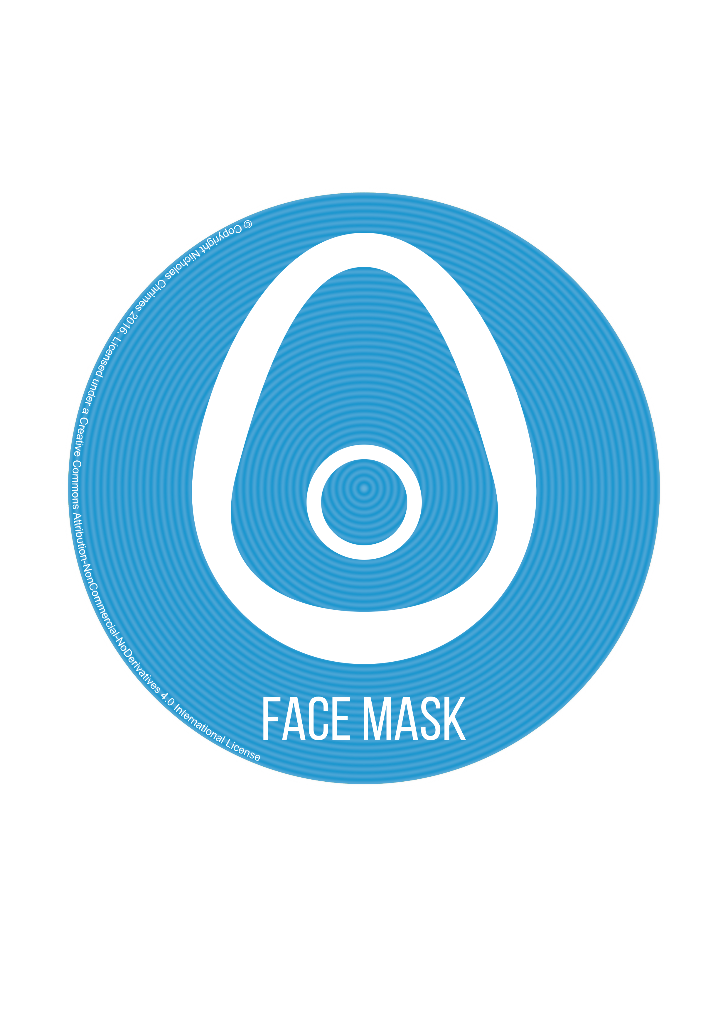 Face Mask Icon - with text