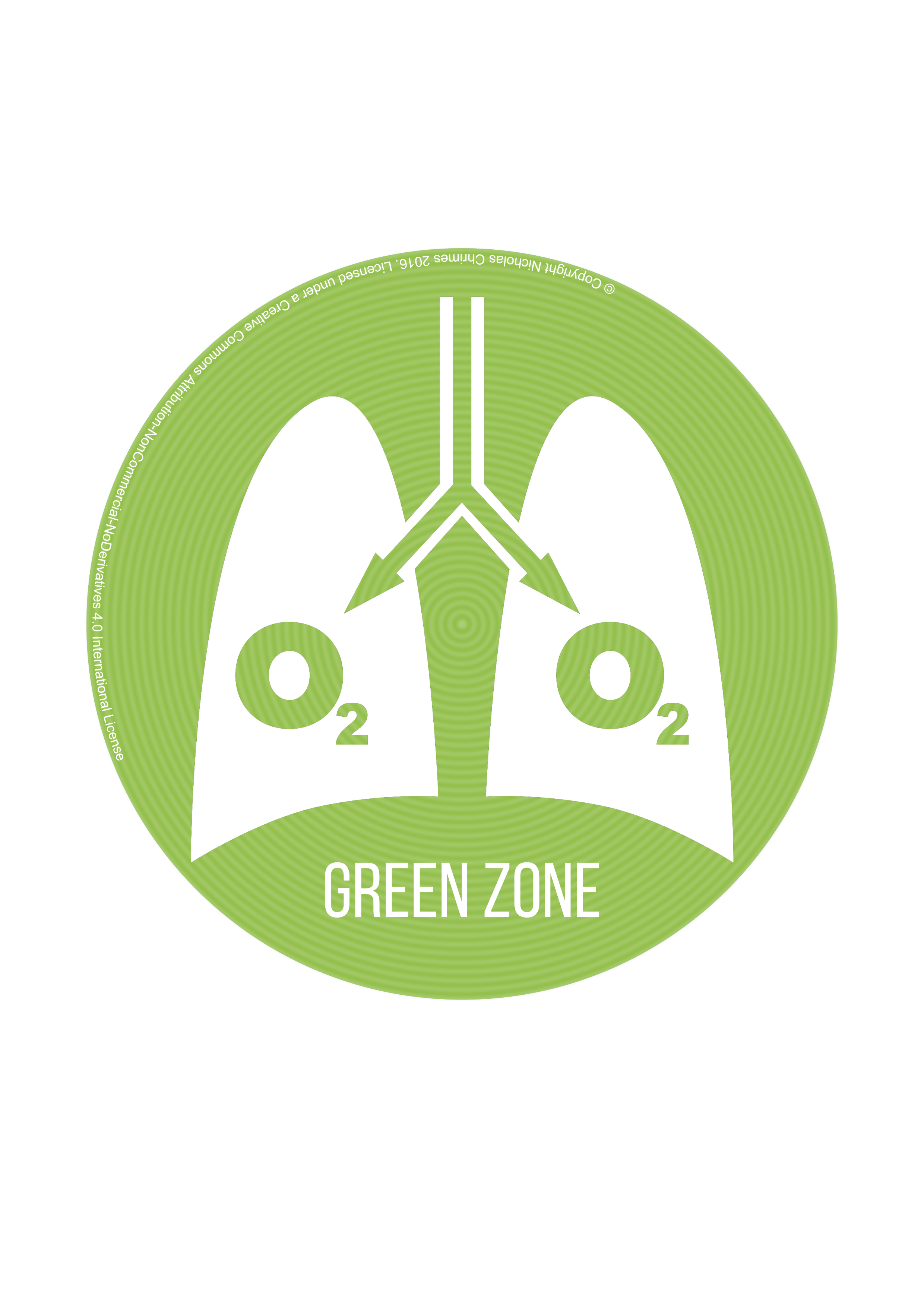 Green Zone Icon - with text
