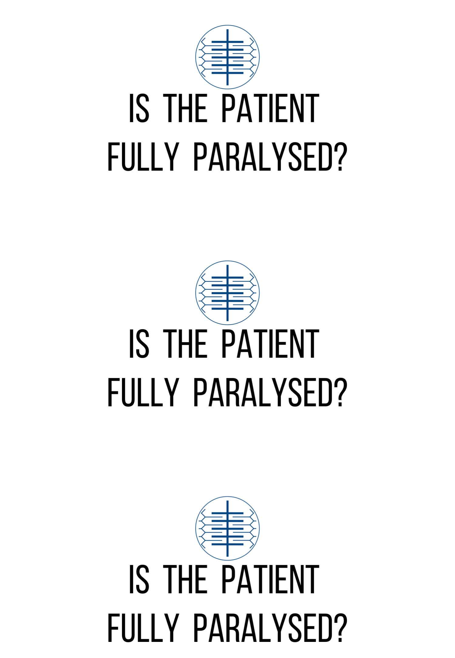 Paralysis Labels