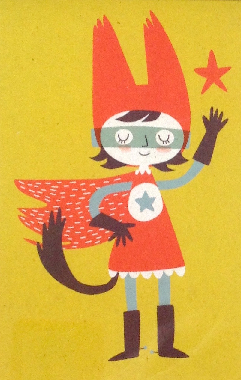 Aus unserem Fundus:Super Hero Postkarte von  Nineteen Seventy Three Limited