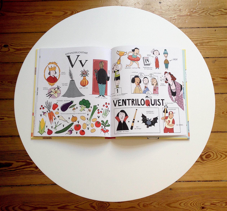 Wunderschön von Anna Ribbing illustriert. Auf jeder Seite ein Buchstabe und zugehörige Wörter.
