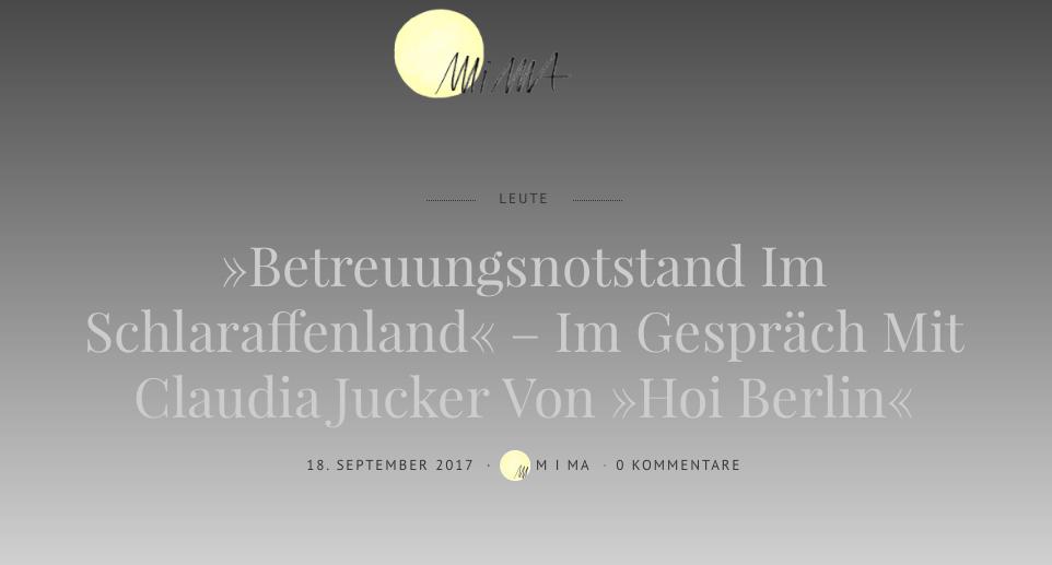 Mi Ma - Ein Gespräch über die Schweiz und Berlin