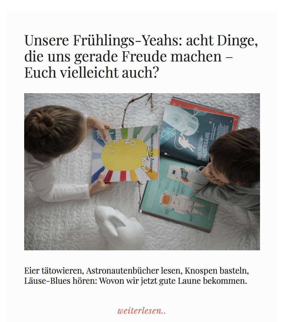 Mutti so yeah! - Der Hoi Berlin Wunschzettel für Frühlings Frauen unter den acht Frühlings Yeahs bei Mareike. Jeehhh und Danke schön!
