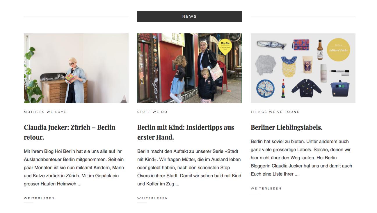Tadah - 3 Fliegen auf einen Schlag.Interview. Berlin-Guide. Editors Picks.