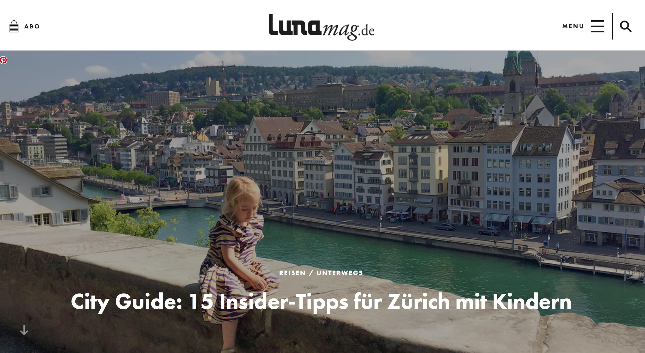 Luna magazin - 15 Zürich Tipps mit Kindern