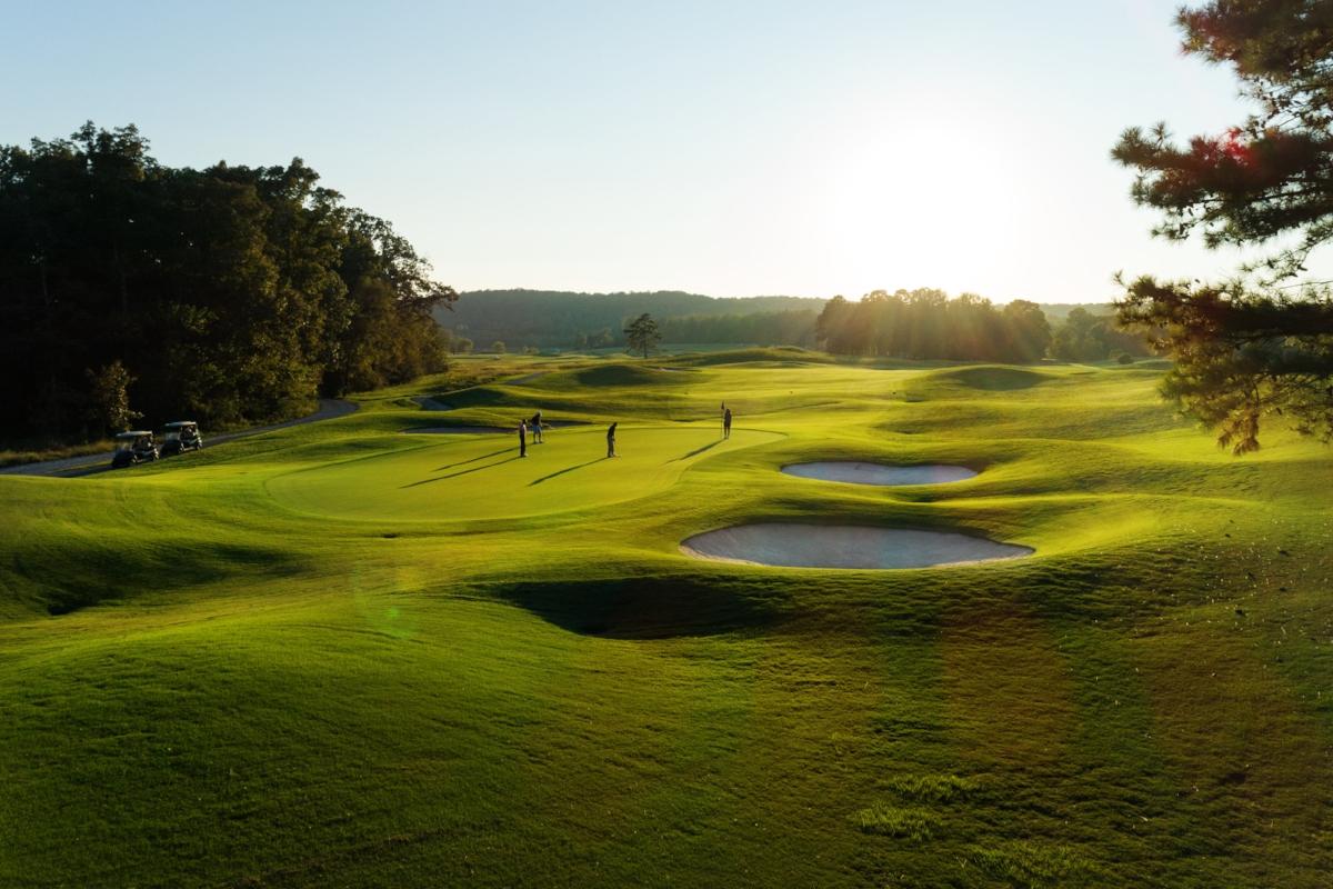 Early morning golf play at Barnsley Resort in Adairsville, GA.