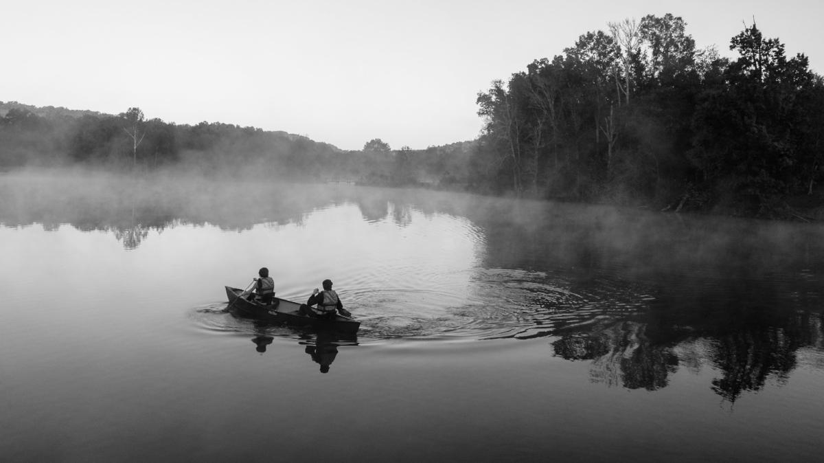 Barnsley Resort early morning canoe session.