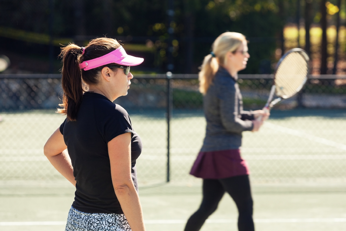 Lifestyle tennis shoot for The Club at Longview.