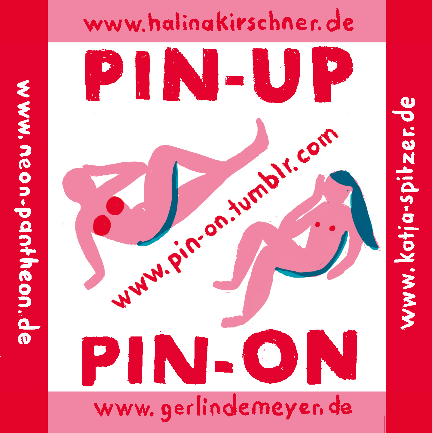 A sticker. Advertisement für our pin-up-girls-project