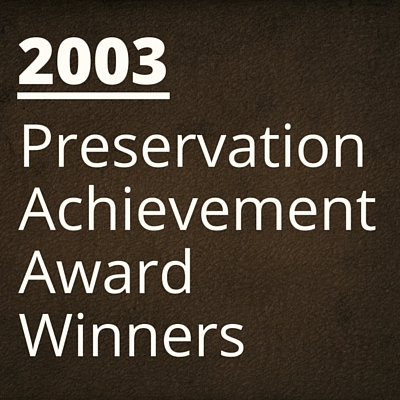 2003 NH Preservation Alliance Awards Winners