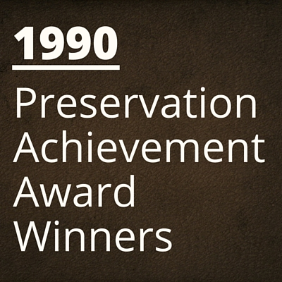 1990 NH Preservation Alliance Awards Winners
