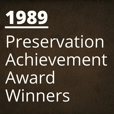 1989 NH Preservation Alliance Awards Winners