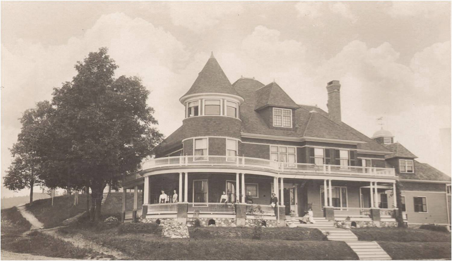 Normal   0                       false   false   false     EN-US   X-NONE   X-NONE                                                                                 If we all had porches like this, there'd be no need for a house. Rand House, Canaan Village. Courtesy Canaan Historical Society.
