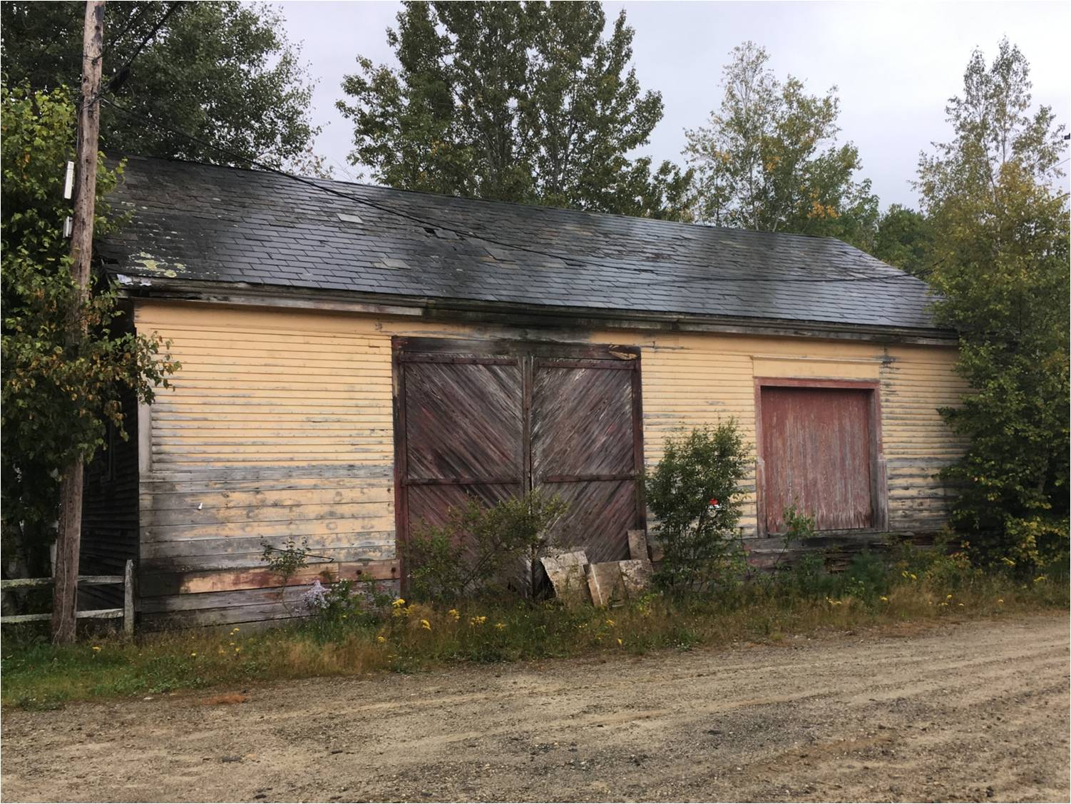 Boston and Maine freight shed, Canaan