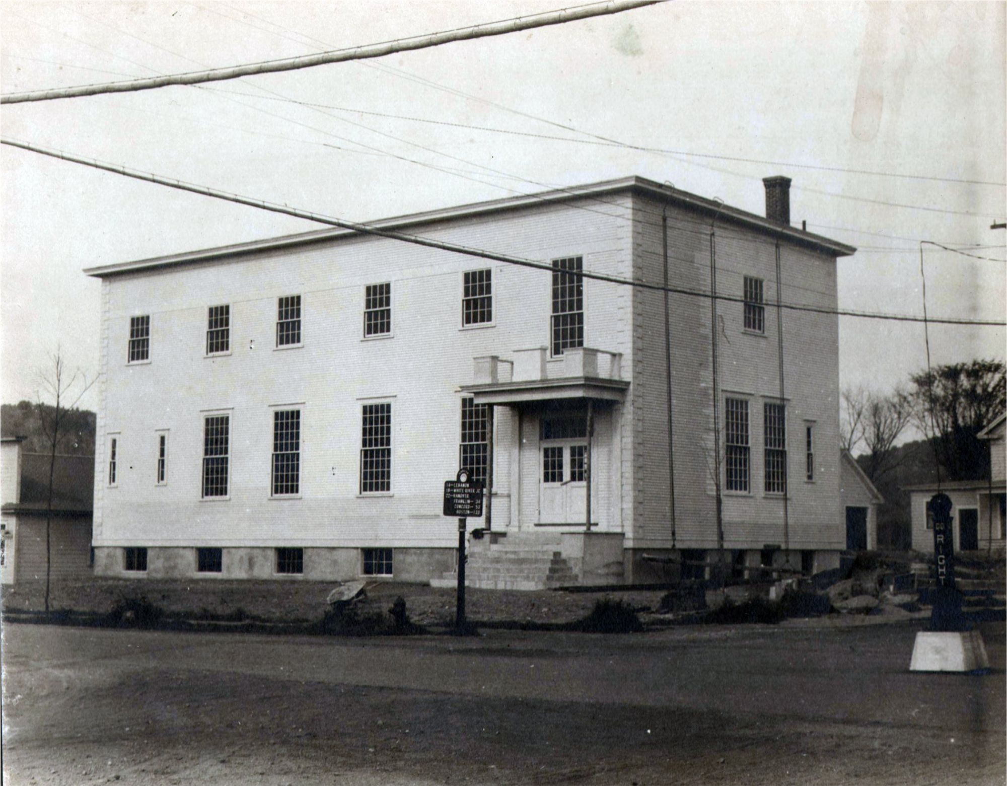 The new Pythian Hall, now the library. Courtesy Canaan Historical Society.