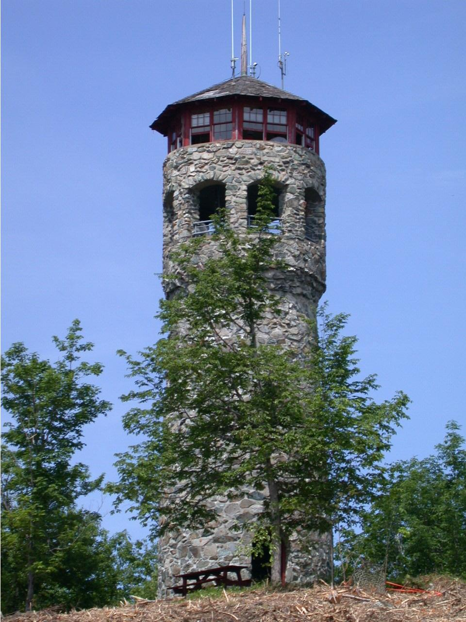 The Weeks Estate in Lancaster includes this fire lookout tower. Prepare for tremendous views!