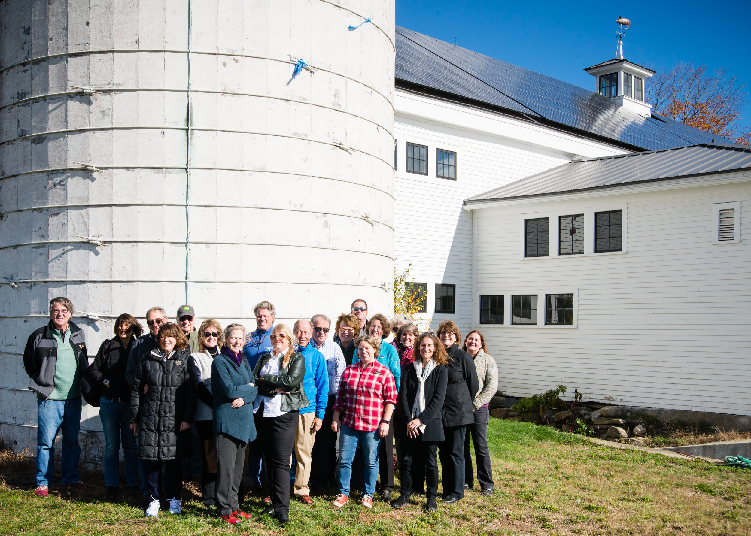 Preservation Alliance board members, staff and friends at Throwback Brewery, North Hampton (an award-winning farm re-use).  Photo: Steve Booth Photography