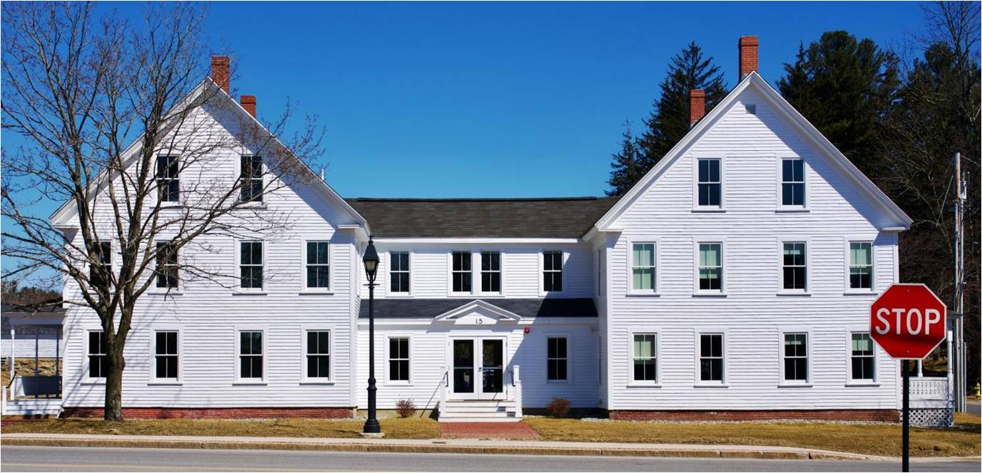 These two c.1860 buildings now serve as the home of Applied GeoSolutions, a firm that uses geospatial tools to map global trends in agriculture, climate change, public health, and resource management. (Photo courtesy of Town of Durham.)