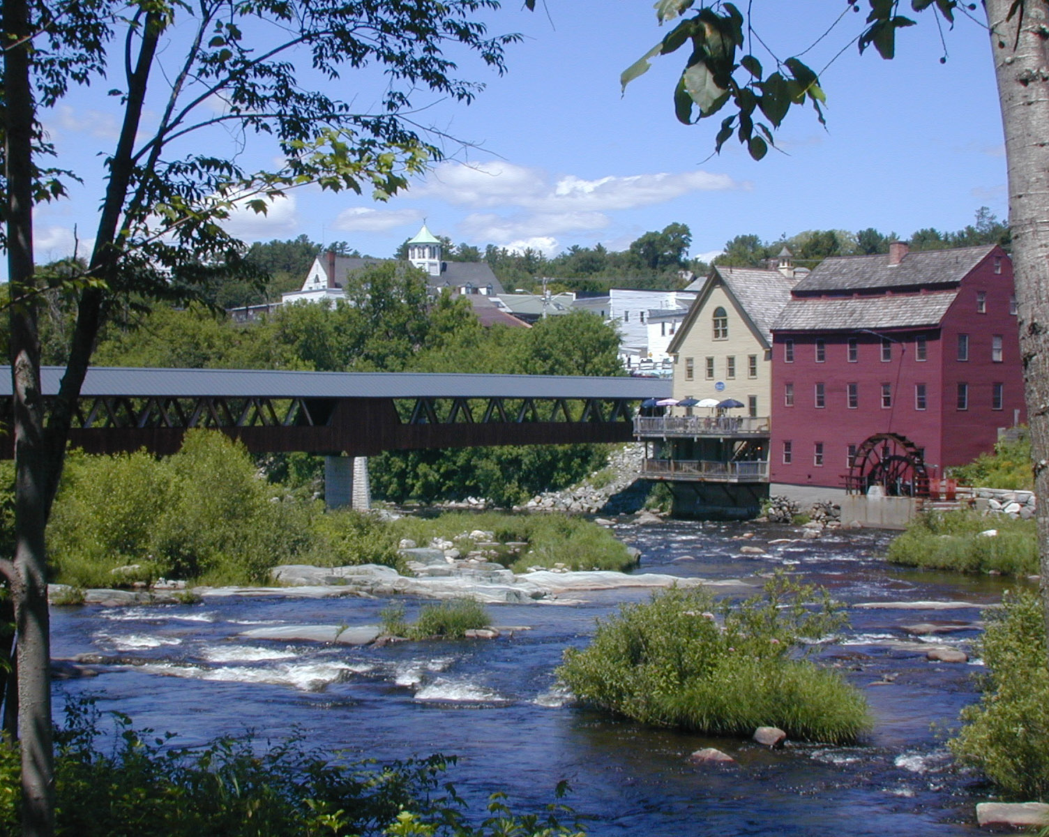 A view of the River Mill Bridge spanning the mighty Ammonusuc River, which flows through the historic town of Littleton, N.H., where the Preservation Conference and Achievement Awards Ceremony were held this year. (Photo by Kris Covey.)