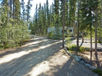 RV Park  Treed spots to hook up your RV and enjoy nature.