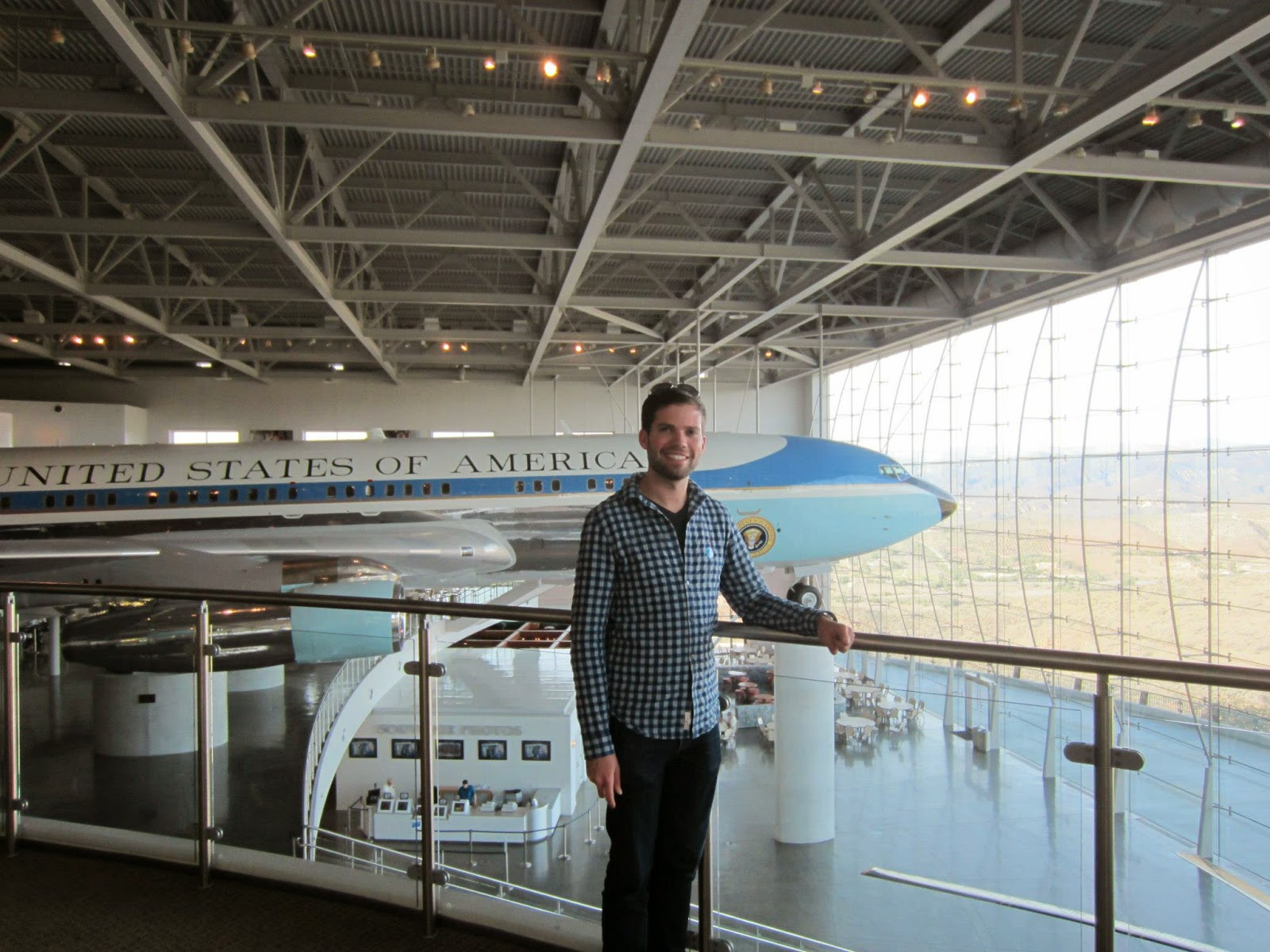 At the Ronald Reagan Presidential Library and Museum in Simi Valley, CA