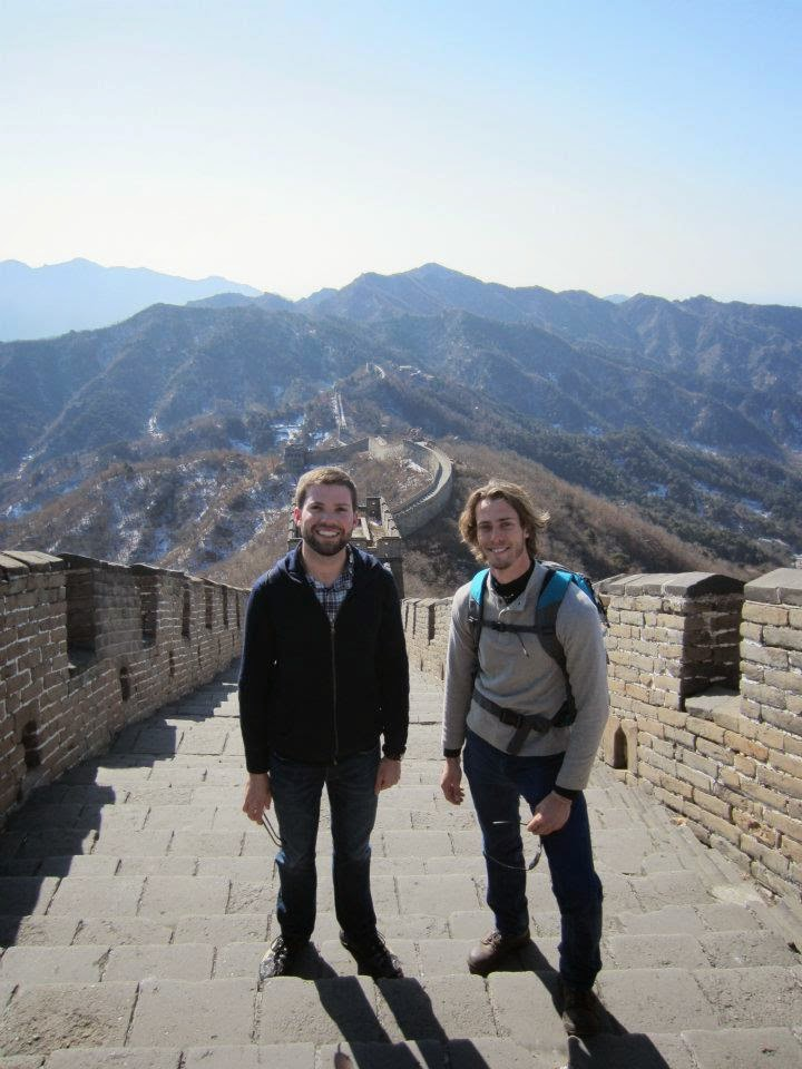 My brother and I on the Great Wall of China in 2012