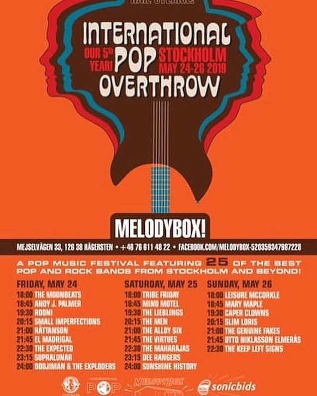 Otto Niklasson Elmerås doing one of his rare live performances tonight at International Pop Overthrow Festival in Stockholm! Do not miss out! @ikairutan . . #ottoniklassonelmerås #ipo #internationalpopoverthrow #melodybox #stockholm #birdsrecords #swedishindie #indielabel #recordlabel #recordcompany