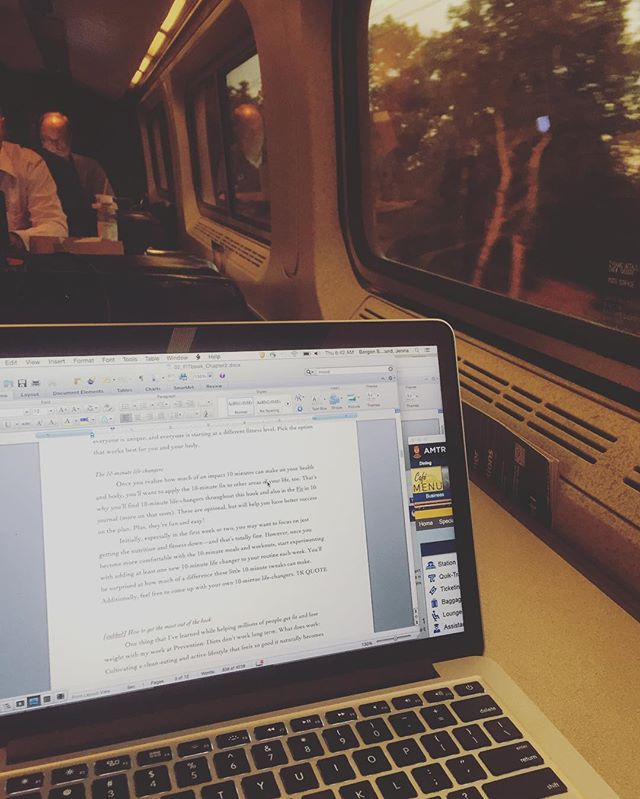 When you wake up at 330am to catch a train into nyc and score a cafe table all to yourself. #writing #train #positivevibes