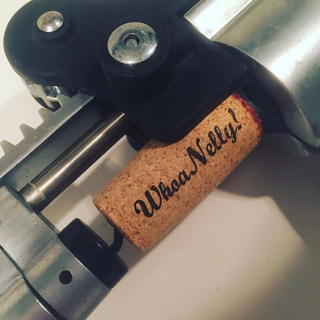 It's like this cork KNOWS what a long week it's been. #cheers #corkart #wine #whoanellypinotnoir