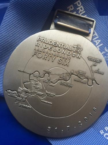 RideLondon 46 finishers' medal  (Photo: © 2016 Rob Crane)