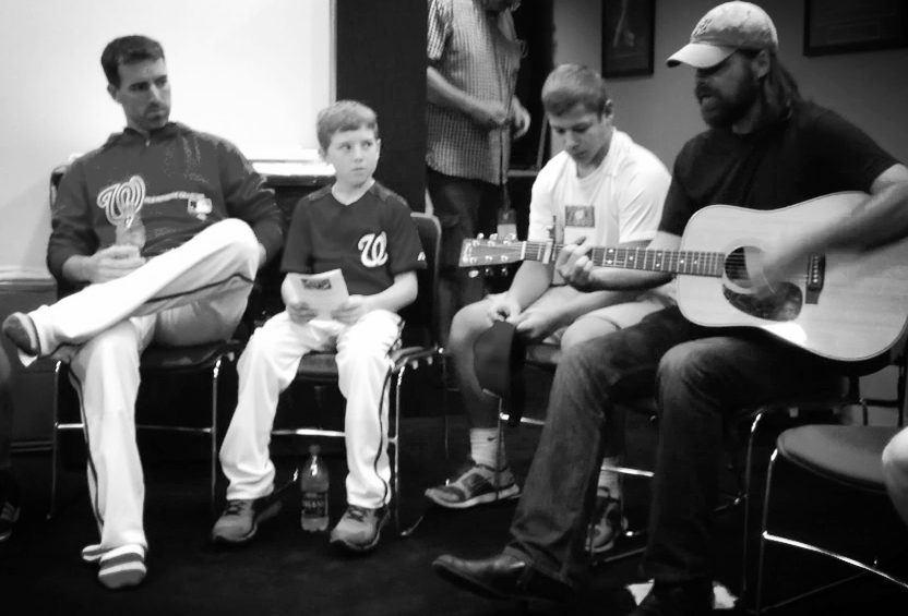 My son led the voluntary team prayer after his godfather sang a few songs.