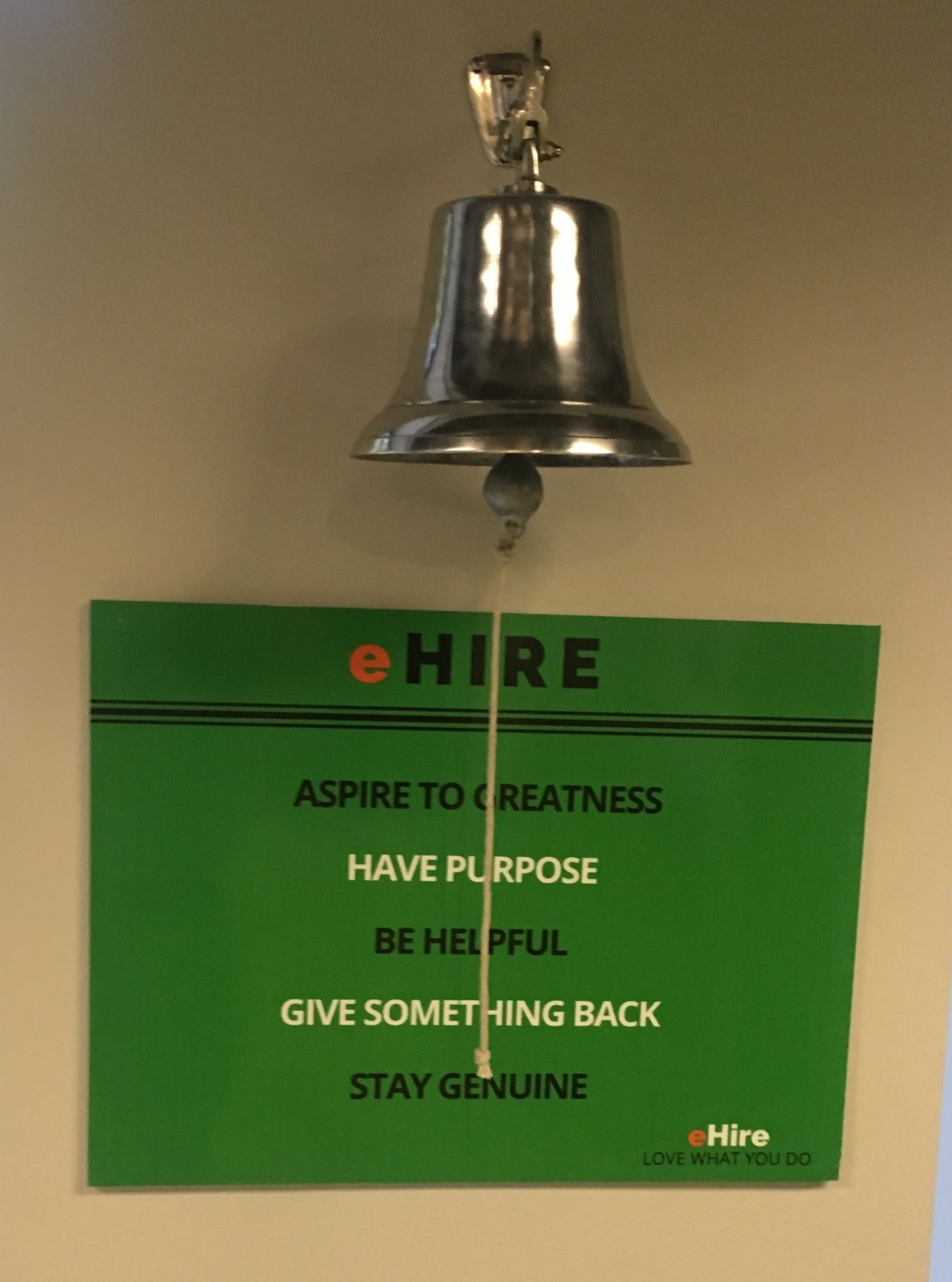 eHire celebrates sales successes, and immediately transitions to humility.