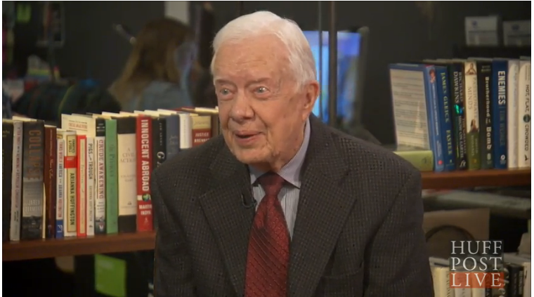 Click the picture above for a great video of President Carter talking about his romance with Rosalynn.