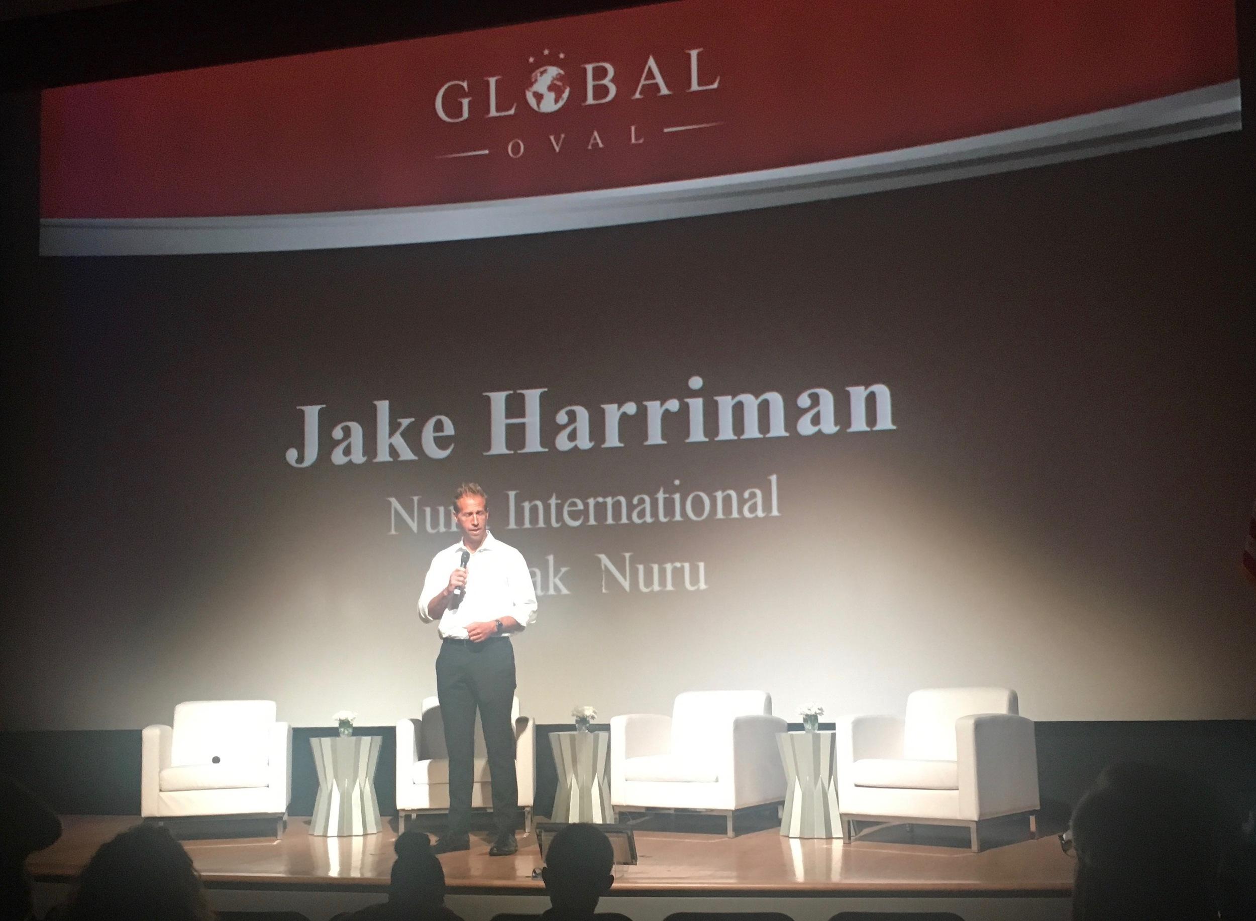 Jake Harriman speaking on behalf of NURU