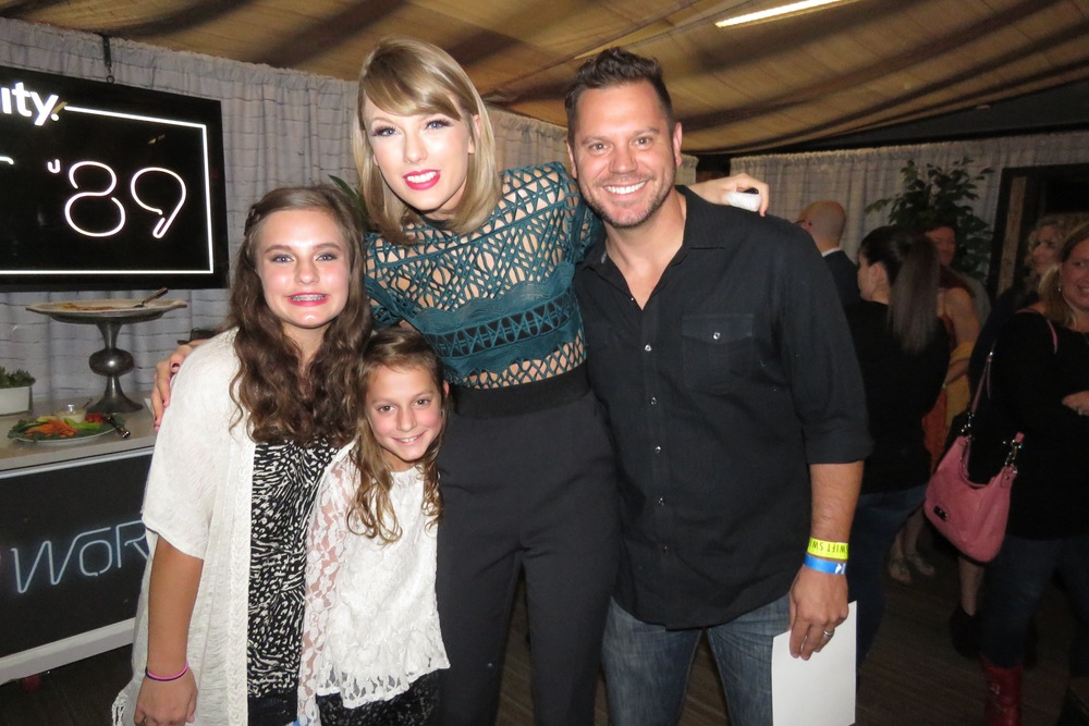 Backstage at the 1989 World Tour in Atlanta, Ga this time last year.