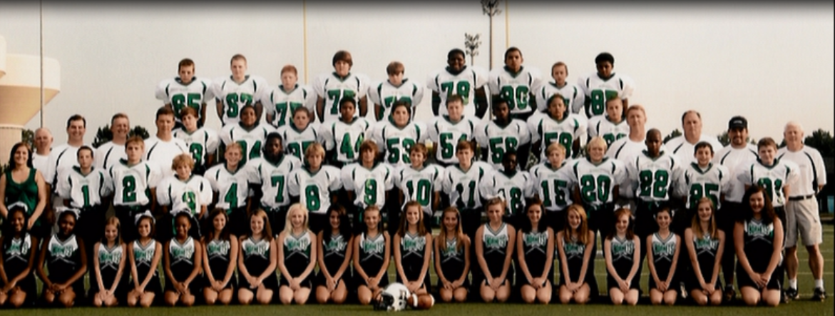 The class of 2017, this year's seniors, in 6th grade Jr. Hornets, already gelling as a team.