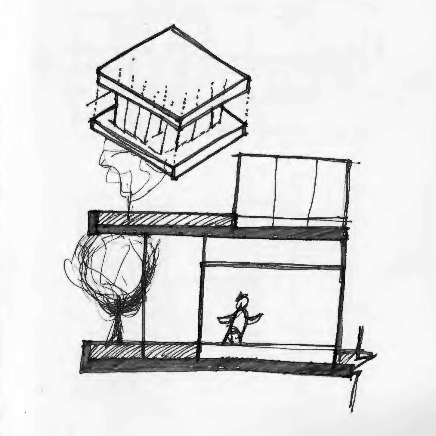 NYC Micro Dwelling Sketch Idea 1