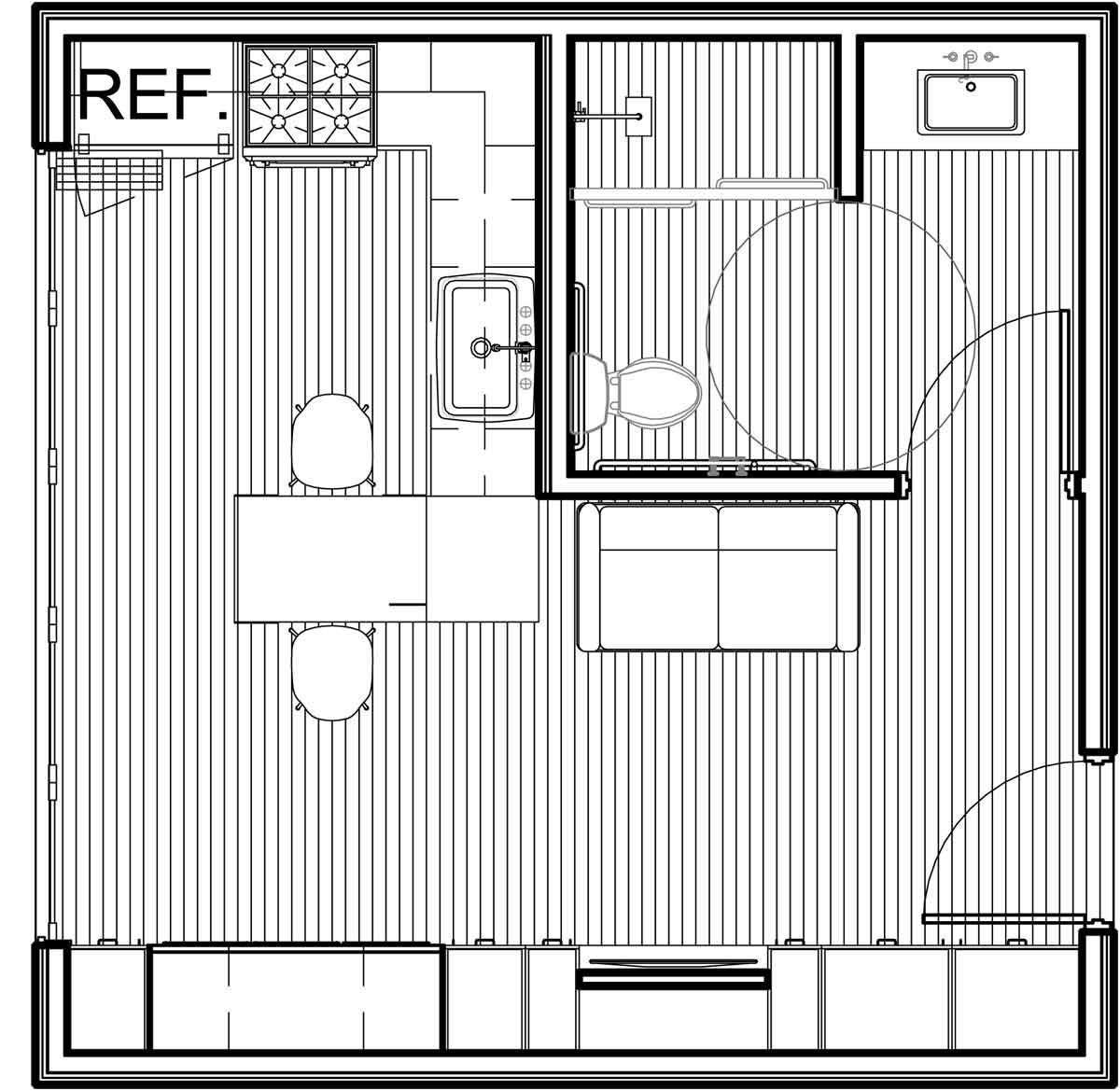 NYC Micro Dwelling SD Unit Floor Plan