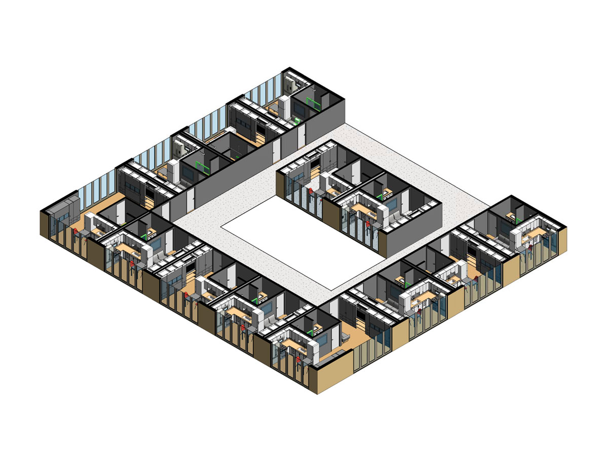 NYC Micro Dwelling SD Unit Isometric Overall