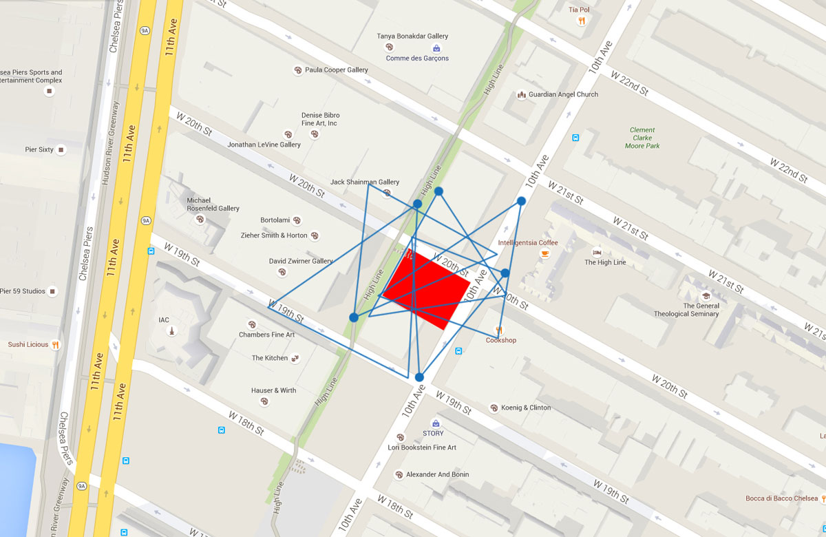 NYC Micro Dwelling Site Photography Map