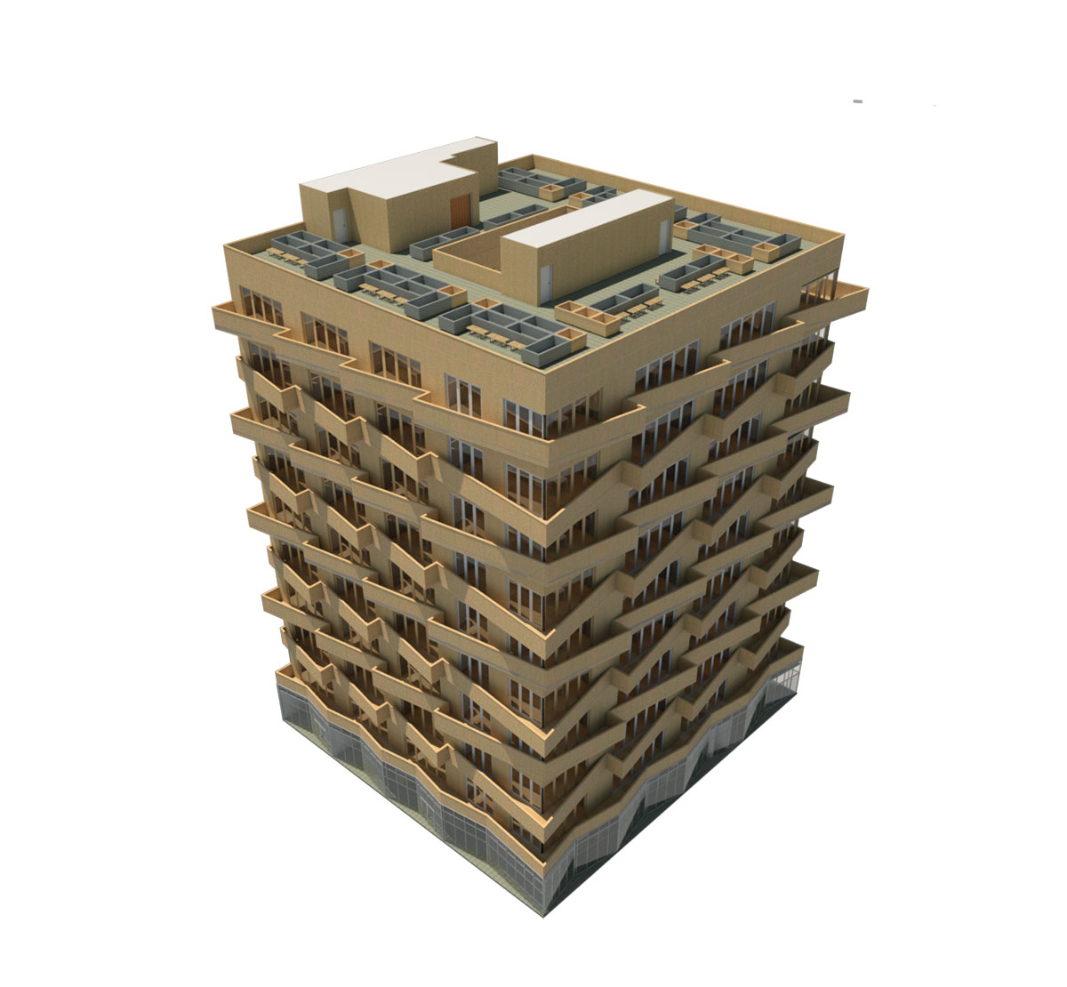 NYC Micro Dwellings Revit Material Test 02