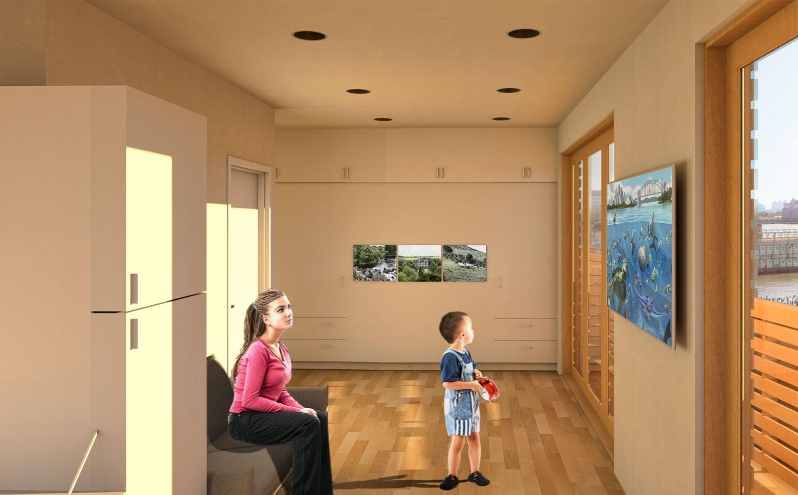 Multi-purpose space as living room