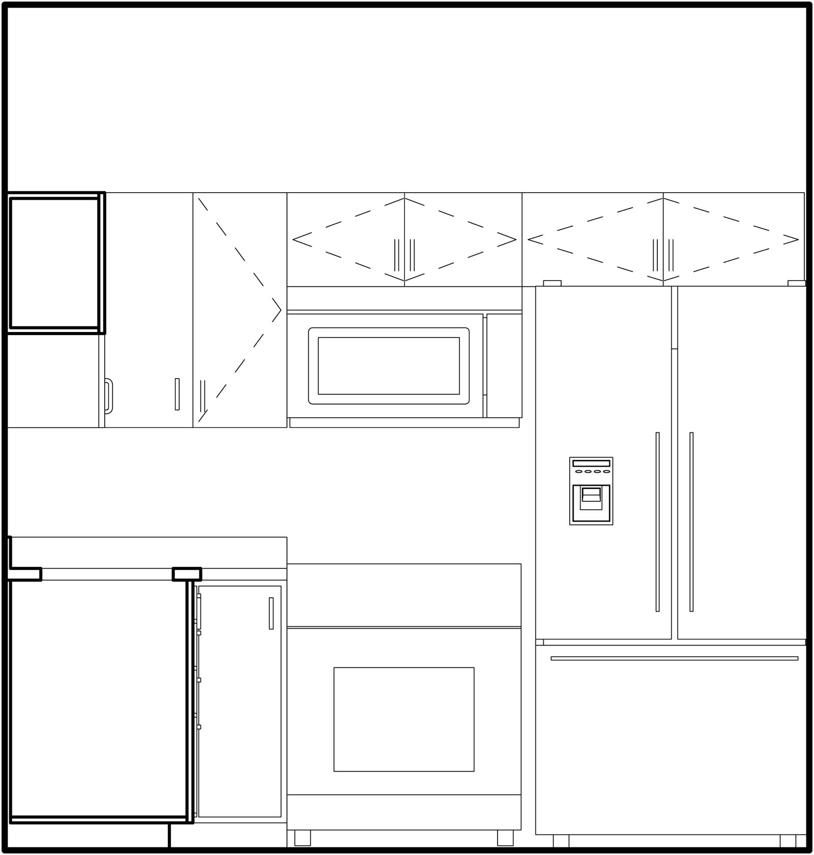 Elevation of kitchen A