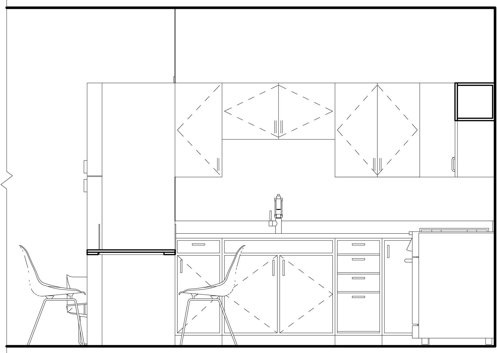Elevation of Kitchen B