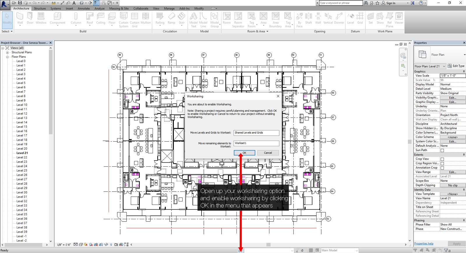 How to create a central Revit file step 01