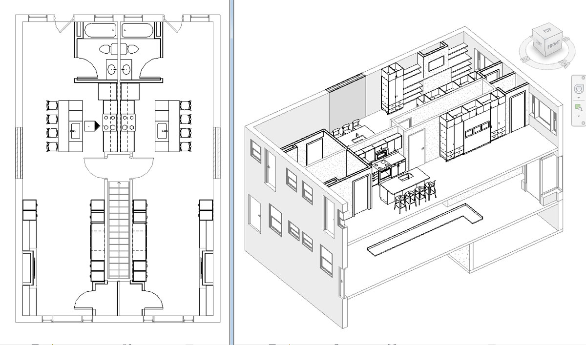 Studio Apartments Floor Plan and 3D View