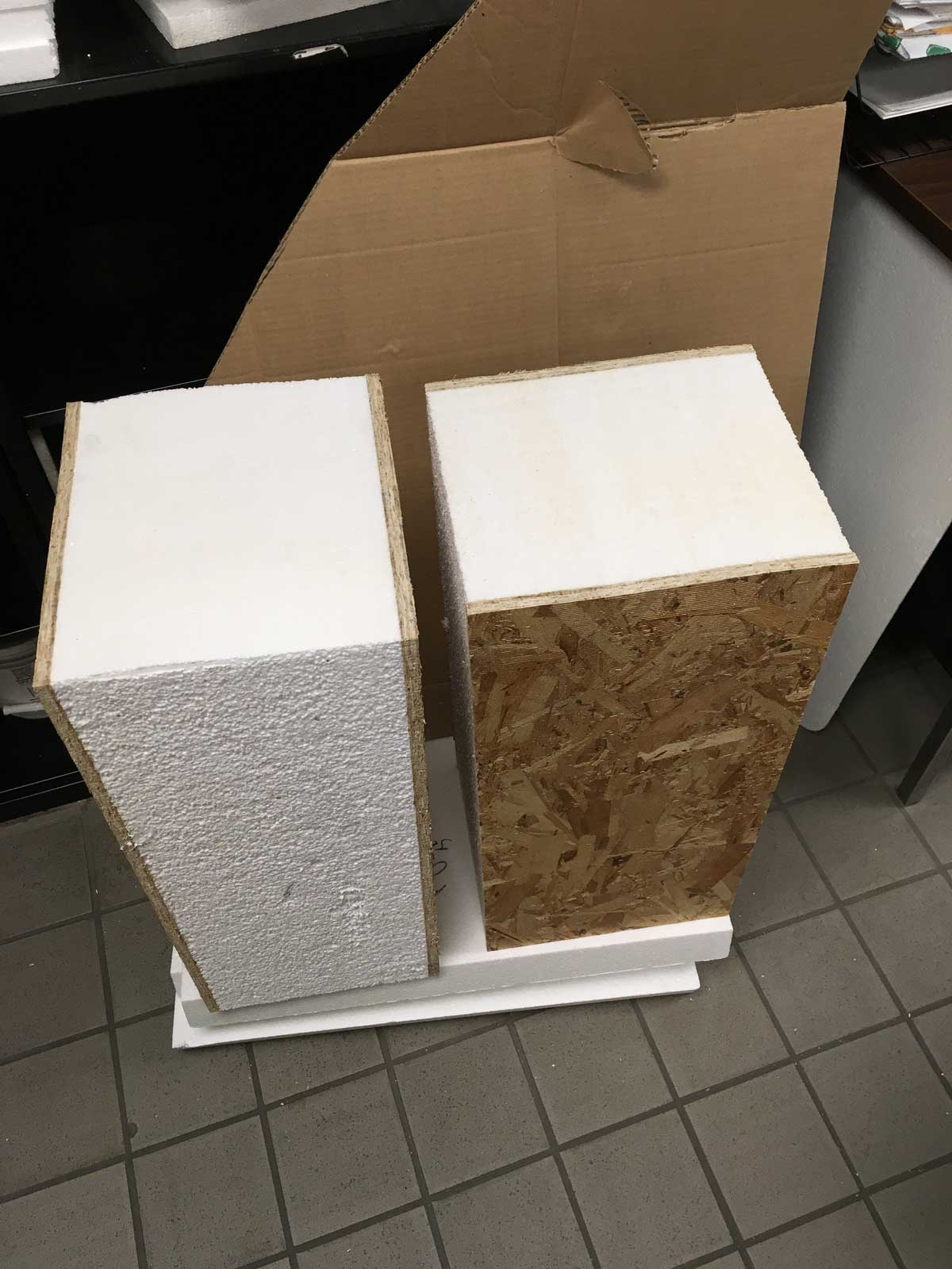 Structurally Insulated Panel w/ thick insulation for higher R-Value