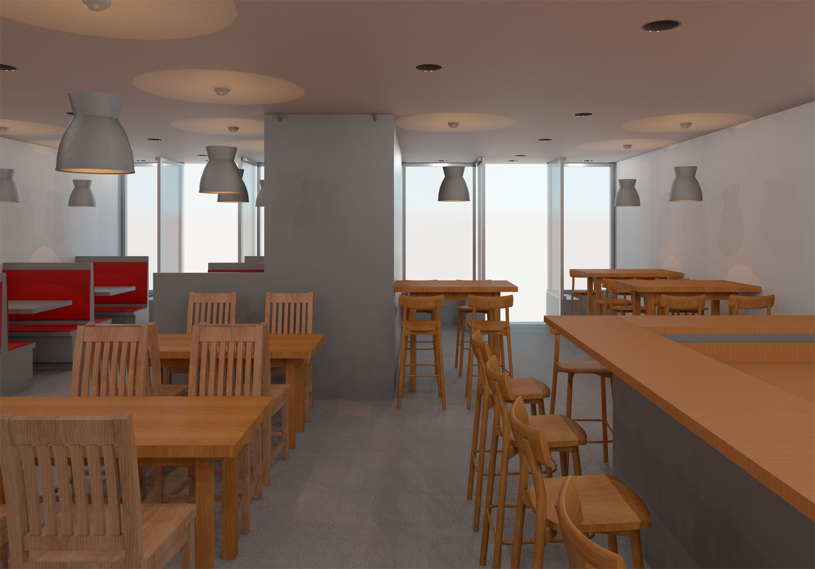 5x30 Restaurant and Apartment Draft Render 02