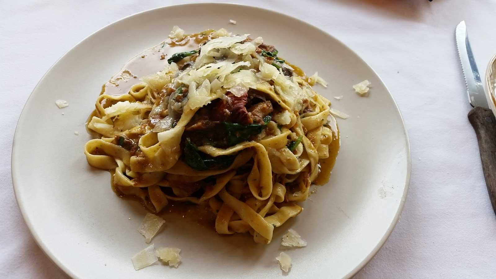 Pork & Mushroom Pasta