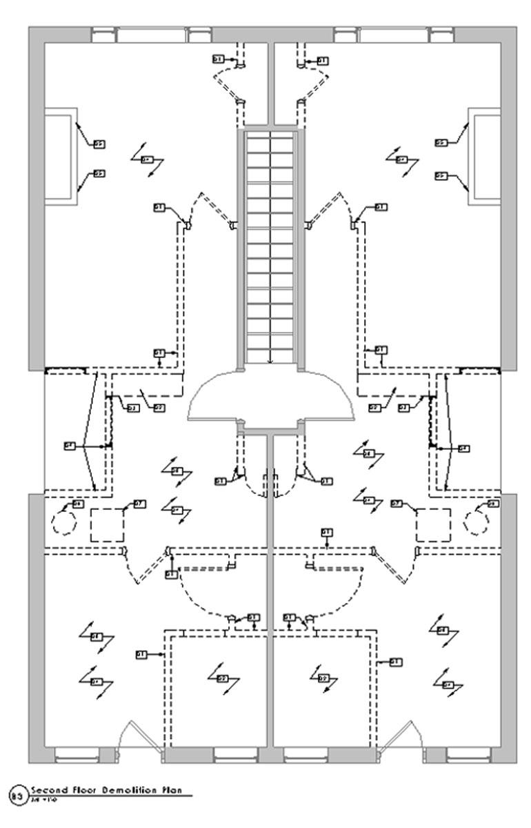 2nd Floor Phase 1 Demolition Plan